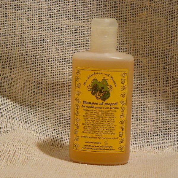 Shampoo al Propoli per Capelli Grassi o con Forfora - La Mieleria nel Bosco