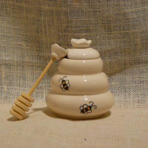 Porta Miele in Ceramica Grande- La Mieleria nel Bosco