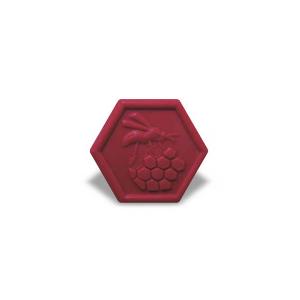 Saponetta esagonale con miele e frutti rossi
